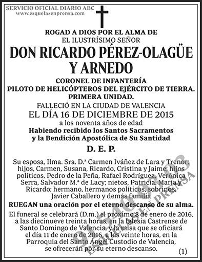 Ricardo Pérez-Olagüe y Arnedo